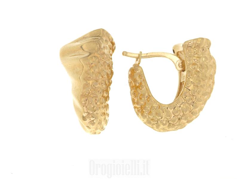 orecchini oro satinato