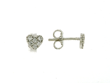 Gold Jewells: Gold earrings heart-shaped for children