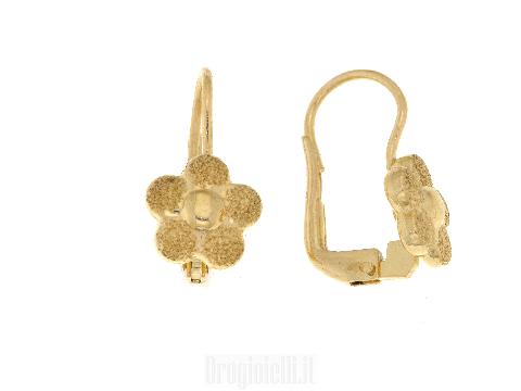 Orecchini a forma di fiore in oro giallo