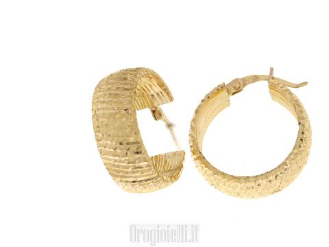 Gioielli in oro NOVELLO Orecchini cerchio per donna
