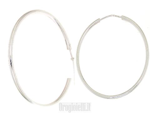 Orecchini cerchio in argento 925