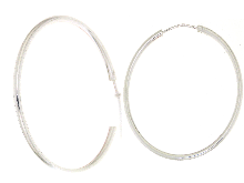 Gold Jewells: Silver 925 circle earrings