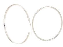 Gold Jewells: Silver 925 circle earrings