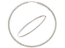 Gold Jewells: Hoop earrings in 18ct white gold