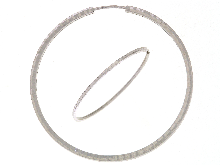 Orecchini cerchio in oro bianco 18 ct