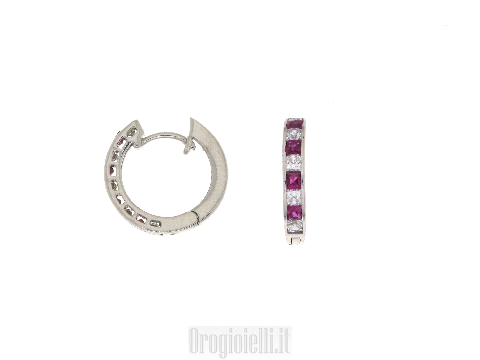 Hoop earrings in gold prices to scream low price