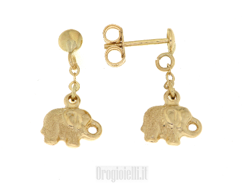Orecchini comunione per bimbe in oro