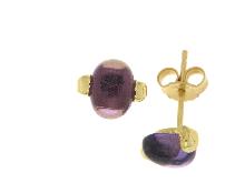 Gold Jewells: Amethyst earrings in yellow gold