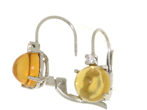 Orecchini con citrino giallo