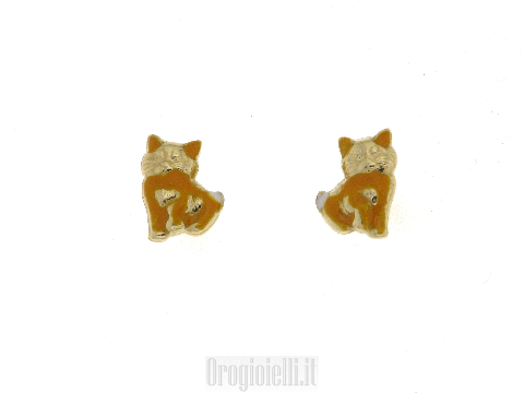 Earrings for communion with kittens