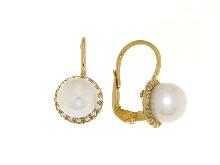 Orecchini con perla e monachella