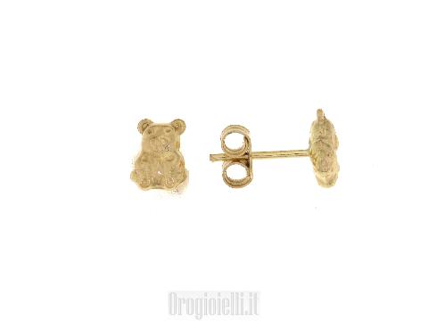 Orecchini da bambine in oro giallo