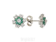 Orecchini fiore con smeraldini SINICO