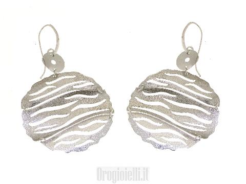 Orecchini grandi bigiotteria in argento