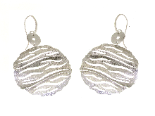 Gold Jewells: Earrings large silver jewelery