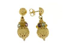 Gioielli per Donne: Orecchini in oro con pietre colorate