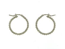 Orecchini luccicanti oro bianco