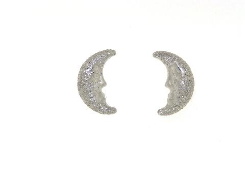 Orecchini mezza luna in oro bianco