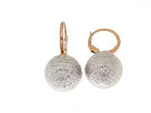 Orecchini pendenti con sfera in oro
