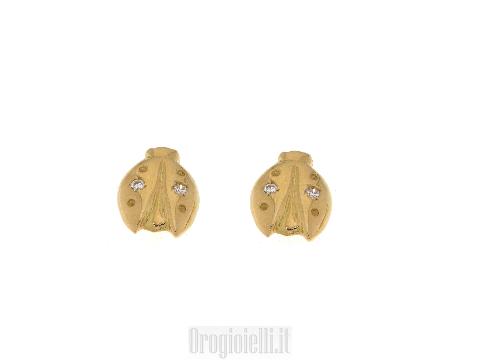 Orecchini per bimbe con diamante