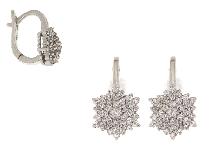 Gold Jewells: Diamond earrings with diamonds