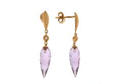 Joyas de oro:  Pendientes con diamantes de salida