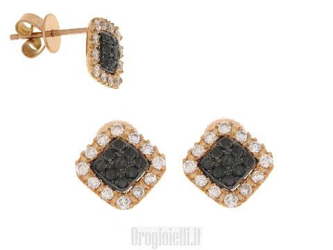 Orecchini ultima moda oro rosa diamanti