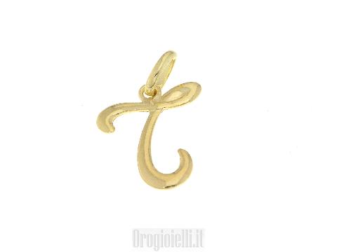 Iniziali corsivo in oro giallo 18 kt