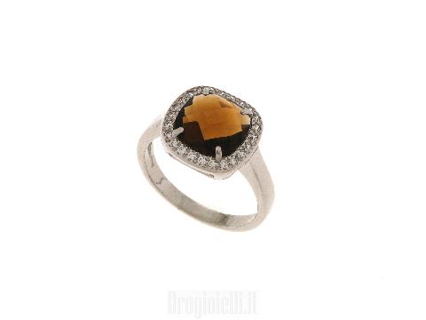 Anelli in argento con pietre colorate