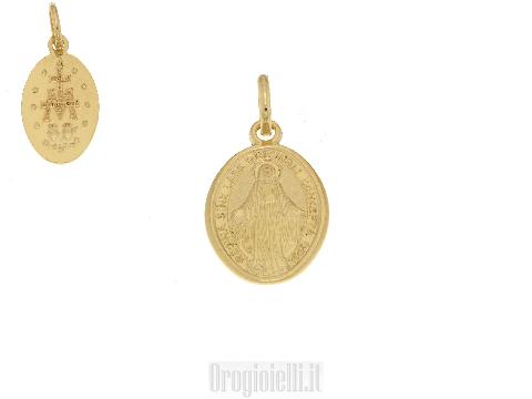 Medaglia Miracolosa in oro giallo 18kt
