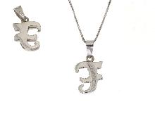 Iniziale del nome in diamanti e oro