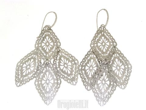 Orecchini grandi pendenti in argento