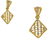 Ciondolo NeoNero bicolore diamantato