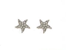 Orecchini stella marina con zirconi