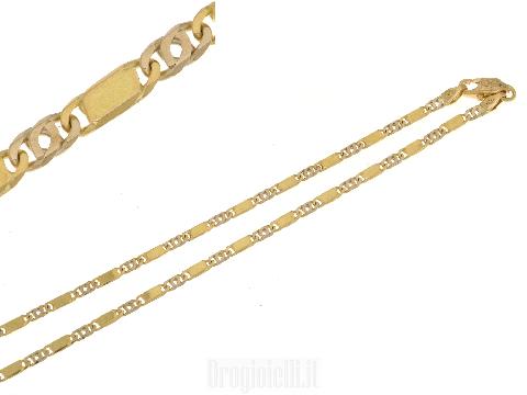 Catena bicolore piena oro 18 kt (battesimo)