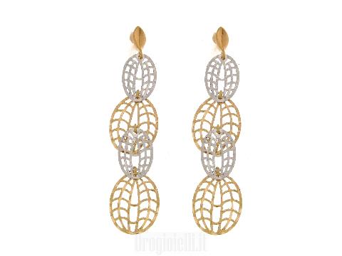 Orecchini pendenti ultima moda in oro