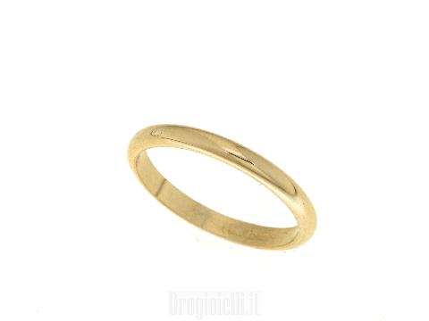 Fede francesina in oro giallo 18 carati
