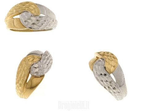 Gioielli Donna ORO - Anello bicolore oro