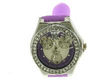 Orologio Viola con zirconi in ghiera