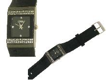 Orologio con silicone nero da donna