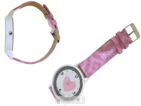 Orologio per S.Valentino con cuore rosa