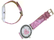 Gold Jewells: Watch for Valentine s Day with pink hear