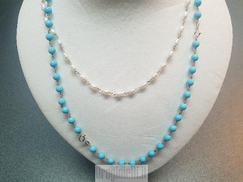 Outfit collane perle e turchese Prezzo Imbattibile