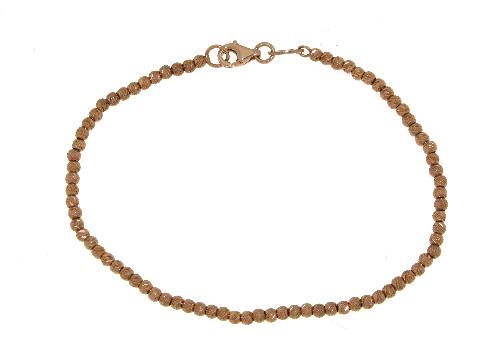 Gioiello made in italy: Palline Diamantate oro rosa