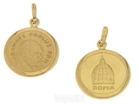 Medaglia Papa Giovanni Paolo II in oro giallo