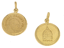 Gold Jewells: Pope John Paul II in yellow gold