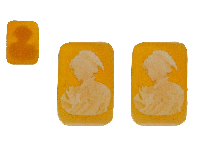 Gold Jewells: Cameo pendants in gold or silver