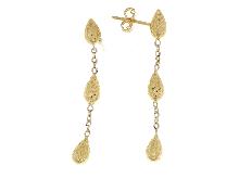 Pendenti goccia in oro giallo diamantati