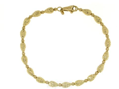 Bracciale donna in oro giallo 18 kt con Pepite diamantate NOVELLO