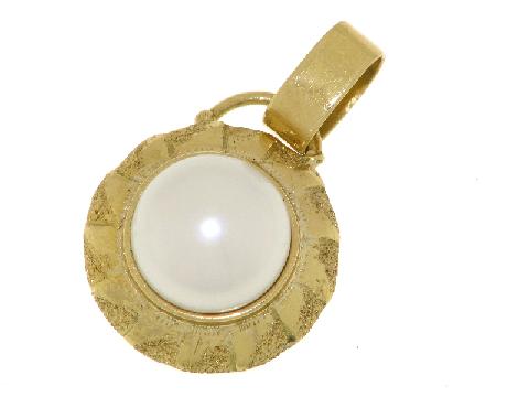 Perla in oro giallo